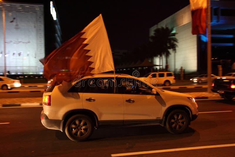 Célébration de jour national du Qatar photos stock