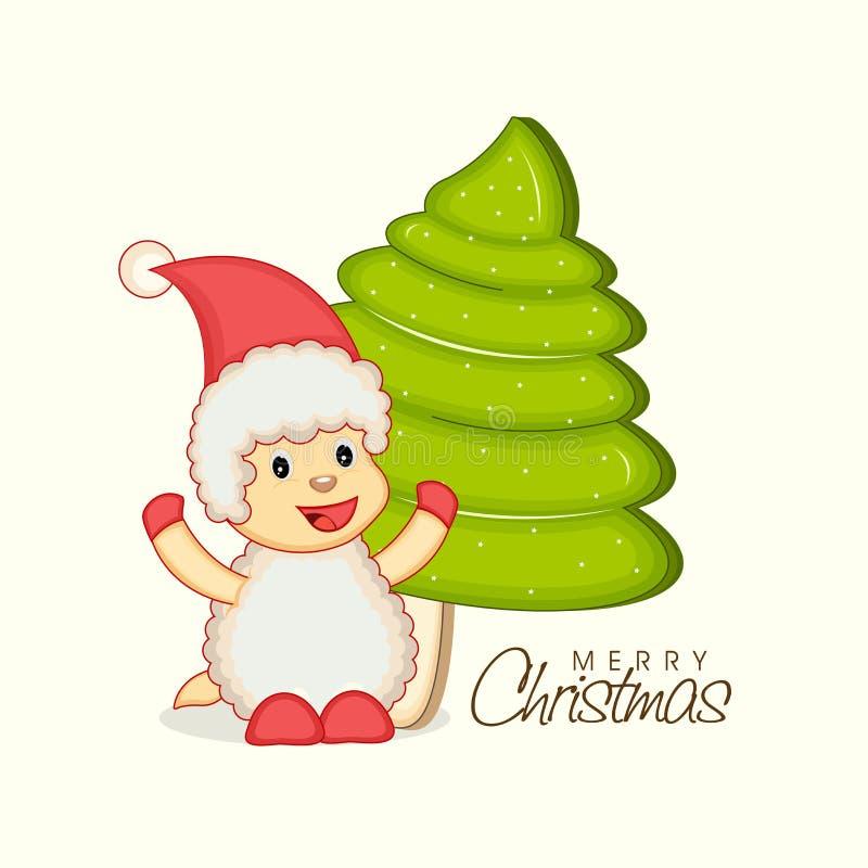 Célébration de Joyeux Noël de manière kiddish illustration libre de droits
