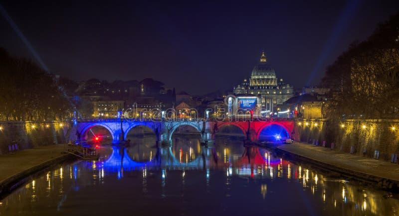 Célébration de jumelage de Rome - de Paris image stock