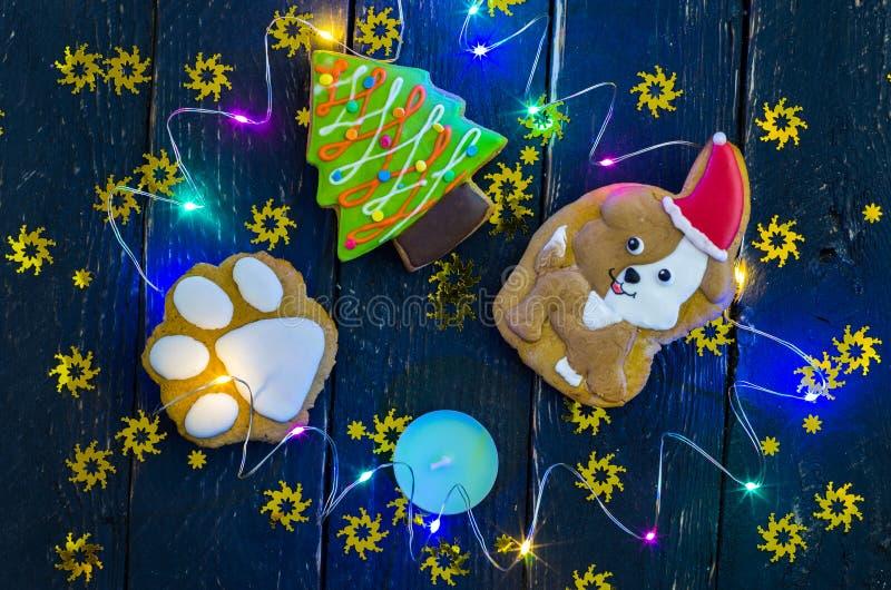 Célébration de l'année du chien Année de l'amitié et de la gentillesse images stock