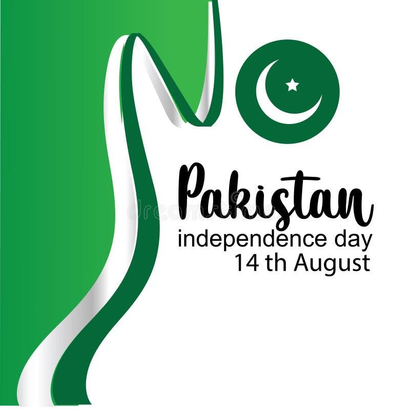 Célébration de l'illustration créative de vecteur de Jour de la Déclaration d'Indépendance du Pakistan 14 août l'indépendance du  illustration libre de droits