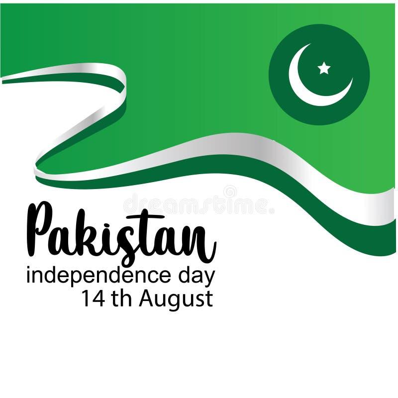 Célébration de l'illustration créative de vecteur de Jour de la Déclaration d'Indépendance du Pakistan 14 août l'indépendance du  illustration stock