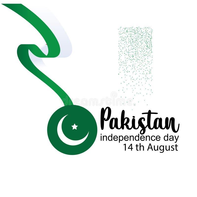 Célébration de l'illustration créative de vecteur de Jour de la Déclaration d'Indépendance du Pakistan 14 août l'indépendance du  illustration de vecteur
