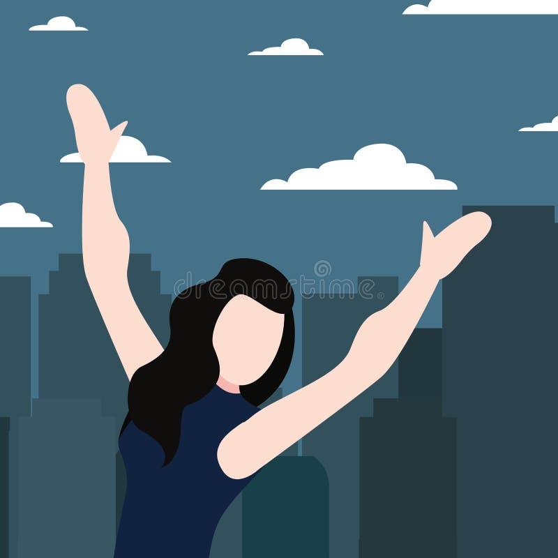 Célébration de la femme dans la ville illustration stock