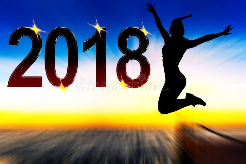 Célébration de la nouvelle année 2018 photographie stock