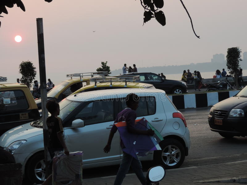 Célébration de Makar Sankrant, Mumbai, Inde photos libres de droits