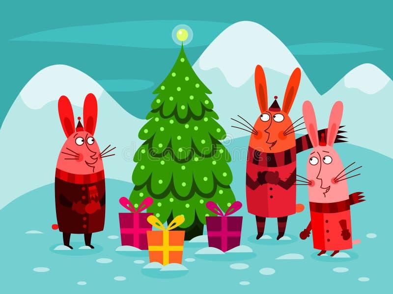 Célébration de Noël illustration stock