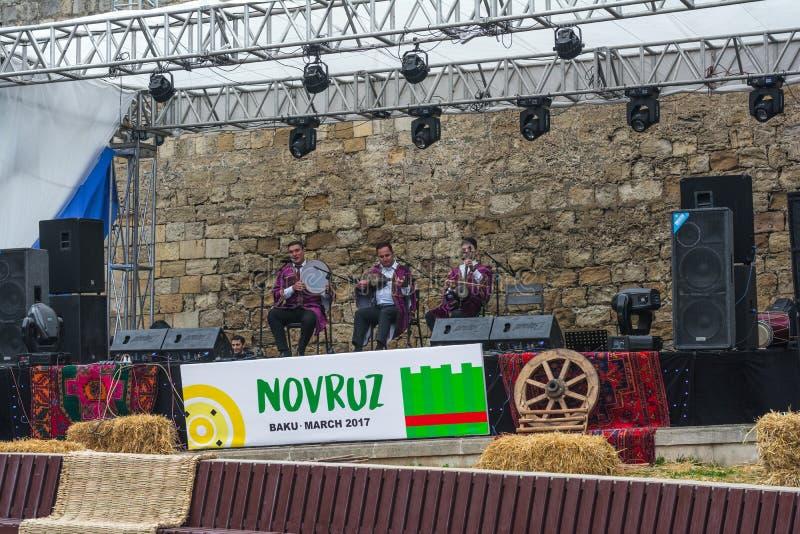 Célébration de Novruz en Azerbaïdjan photos libres de droits