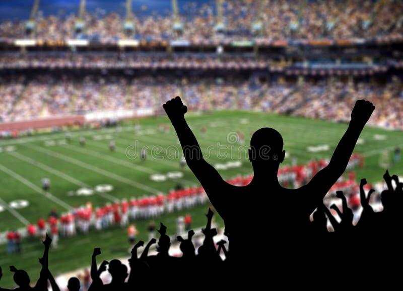 Célébration de passioné du football image libre de droits