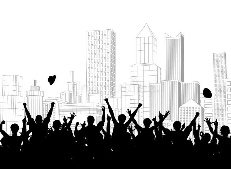 Célébration de rue illustration libre de droits