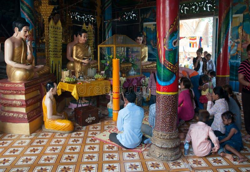Célébration de Songkran au Cambodge 2012 image libre de droits