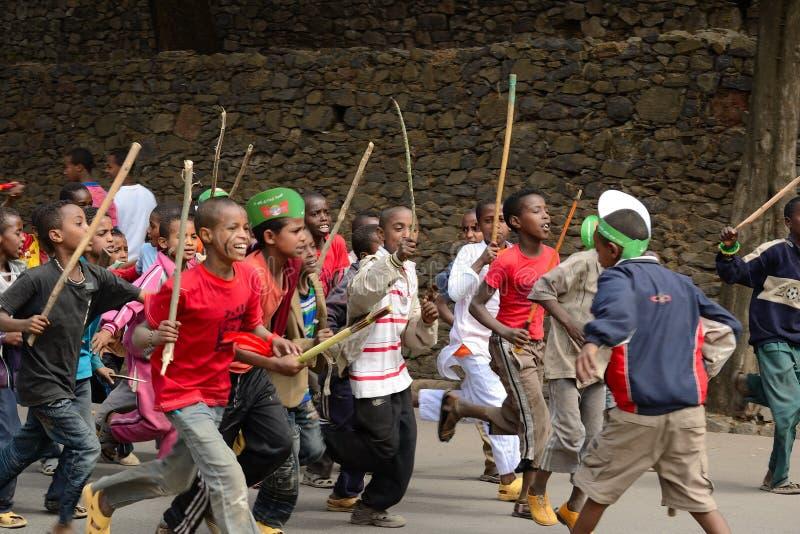 Célébration de Timkat en Ethiopie photos stock