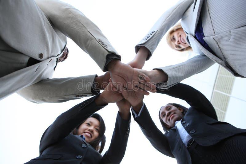 Célébration diverse d'équipe d'affaires photos stock