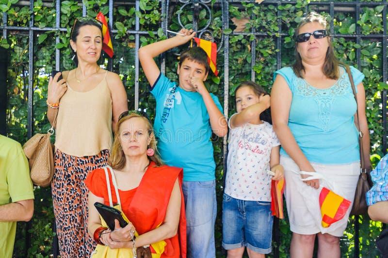 Célébration du couronnement du nouveau roi de l'Espagne Felipe IV images libres de droits