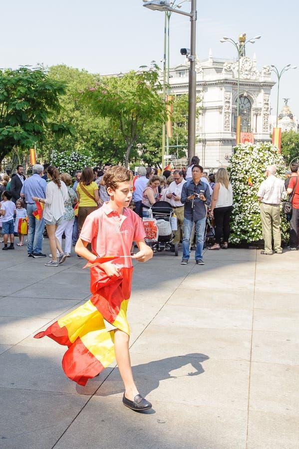 Célébration du couronnement du nouveau roi de l'Espagne Felipe IV photo stock