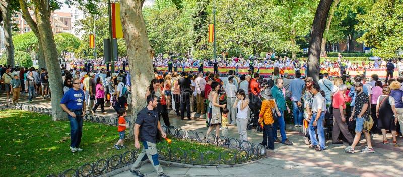 Célébration du couronnement du nouveau roi de l'Espagne Felipe IV photos libres de droits