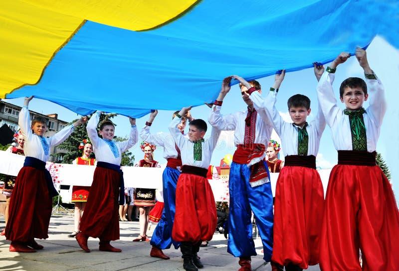 Download Célébration Du Jour Du Drapeau National Et Du Jour De La Déclaration D'Indépendance De Image stock éditorial - Image du symboles, cosaques: 76078029