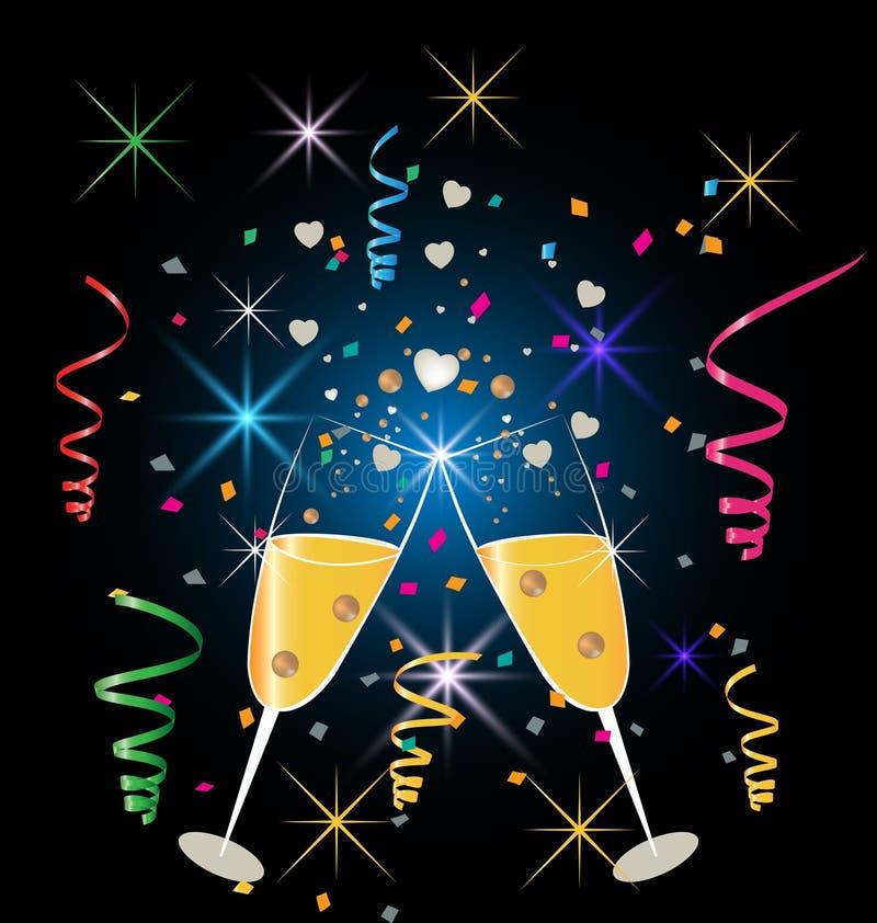 Célébration en verre de Champagne illustration libre de droits