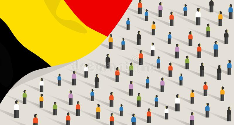 Célébration et unité de l'anniversaire de l'indépendance de la Belgique People Belgium un groupe de gens qui manifestent illustration stock