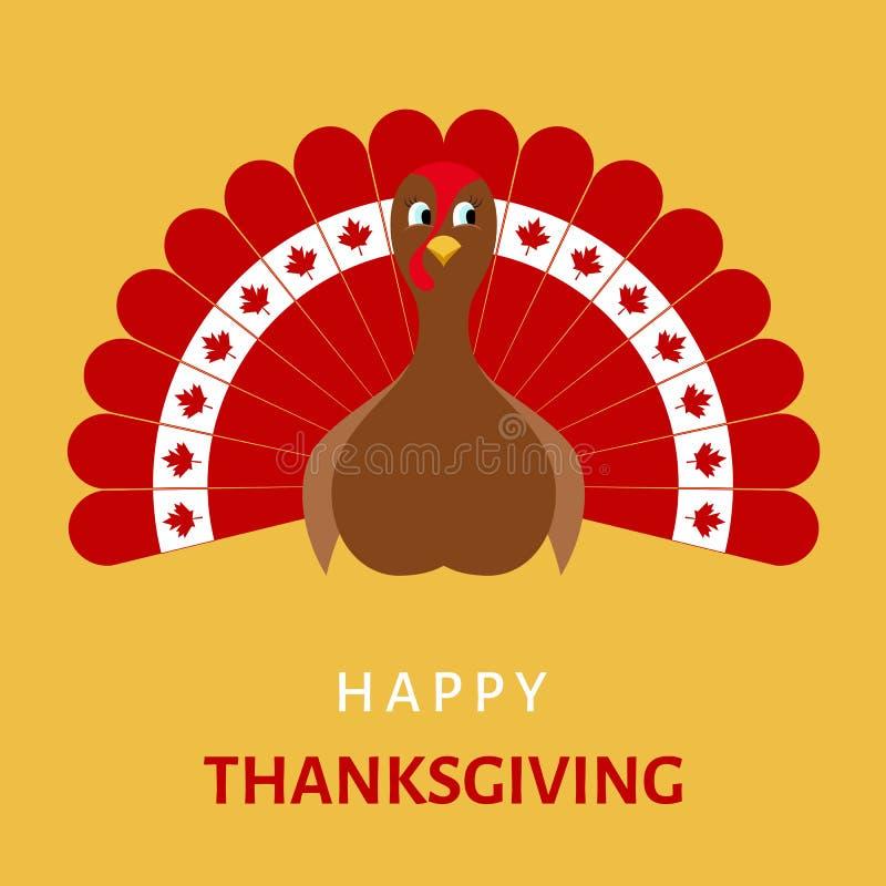 Download Célébration Heureuse De Thanksgiving Avec L'oiseau De Dinde De Bande Dessinée Illustration de Vecteur - Illustration du donner, fond: 77161025