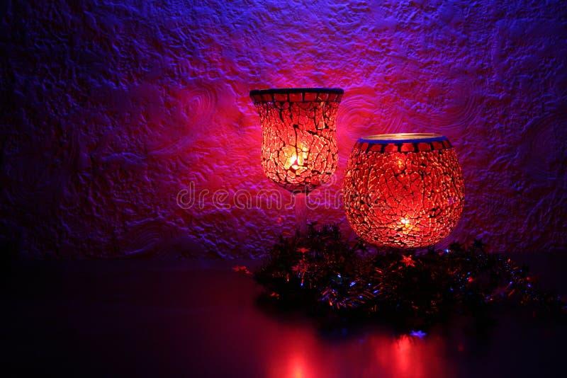 Célébration II de lueur de chandelle photo stock