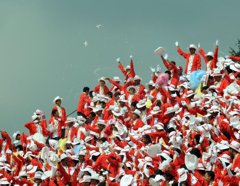 Célébration indépendante de jour de la Malaisie photos libres de droits