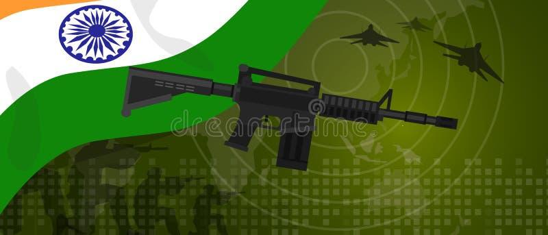 Célébration nationale de pays de guerre et de combat d'industrie de défense d'armée de puissance militaire d'Inde avec le chasseu illustration libre de droits