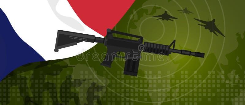 Célébration nationale de pays de guerre et de combat d'industrie de défense d'armée de puissance militaire de Frances avec le cha illustration stock