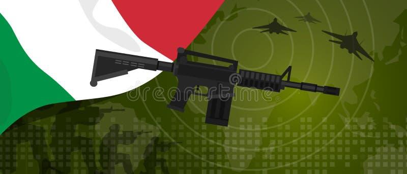 Célébration nationale de pays de guerre et de combat d'industrie de défense d'armée de puissance militaire de l'Italie avec le ch illustration stock