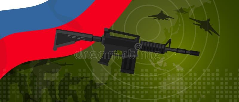 Célébration nationale de pays de guerre et de combat d'industrie de défense d'armée de puissance militaire de la Russie avec le c illustration libre de droits