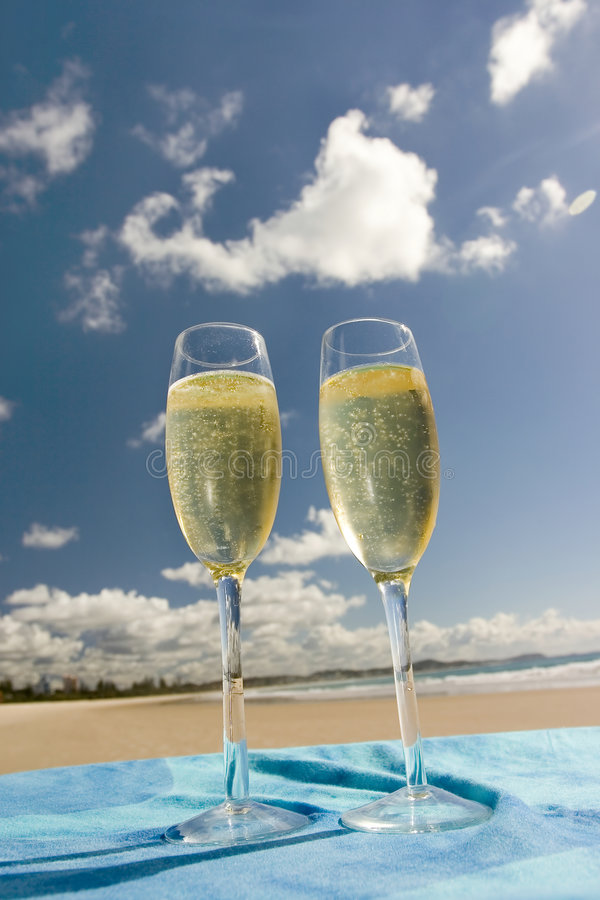 Célébration sur la plage photographie stock libre de droits