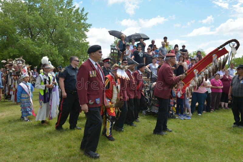 Célébration vivante de jour indigène dans Winnipeg image libre de droits