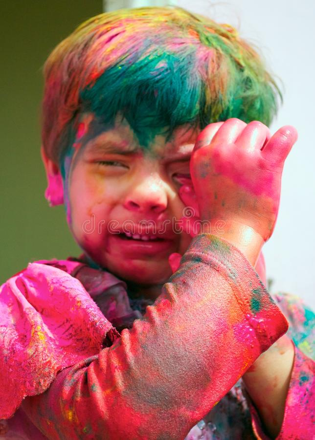Célébrations de Holi en Inde. image libre de droits