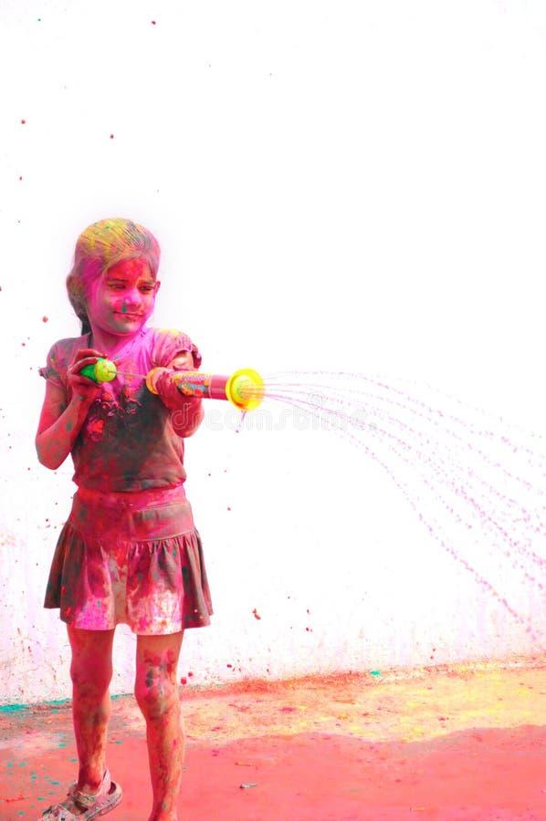 Célébrations de Holi en Inde. photo stock