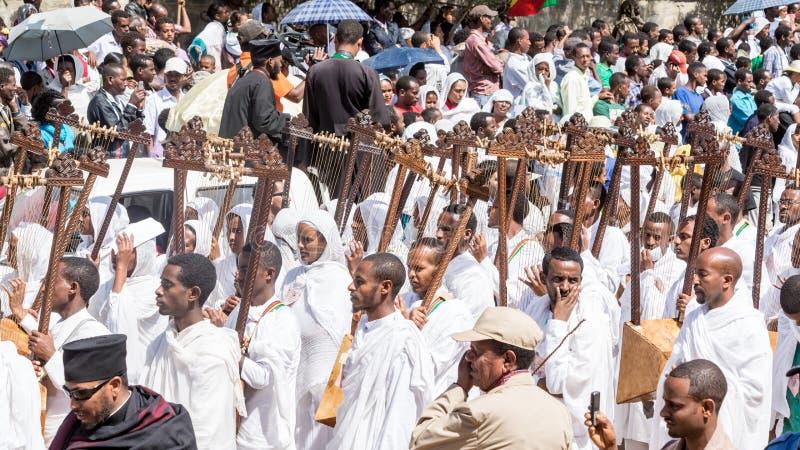 Célébrations de Timket en Ethiopie image stock
