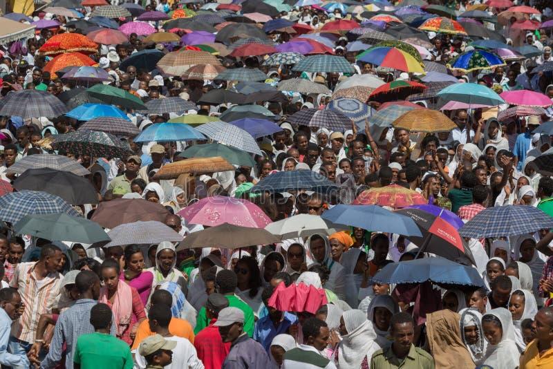Célébrations de Timket en Ethiopie image libre de droits