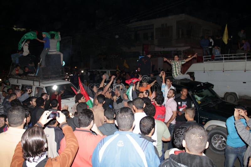Célébrations de victoire à Gaza photos stock