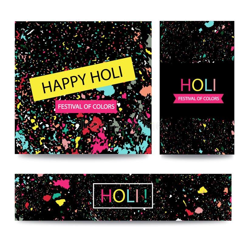 Célébrations heureuses de Holi de festival indien coloré Fond pour la bannière illustration de vecteur