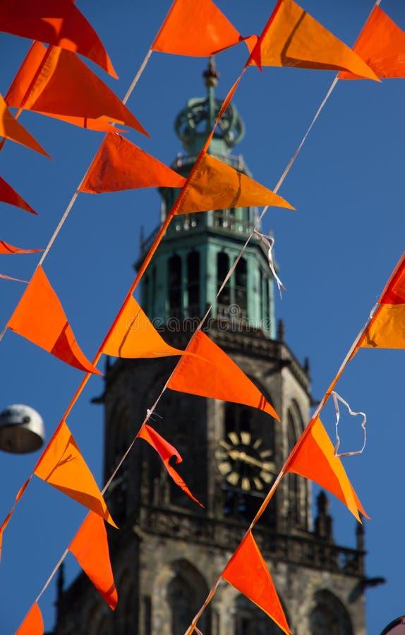 Célébrations néerlandaises de coupe du monde photographie stock