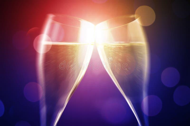 Célébrez avec du vin image libre de droits