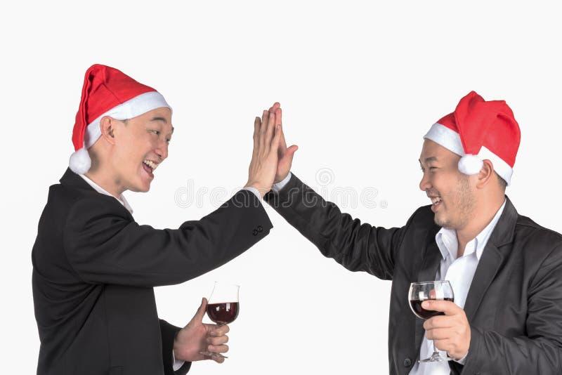 Célébrez dans le jour de Noël images libres de droits