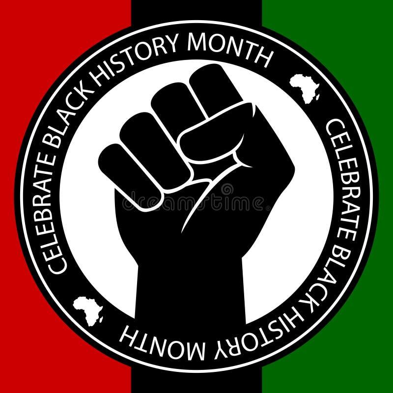 Célébrez l'histoire noire illustration de vecteur