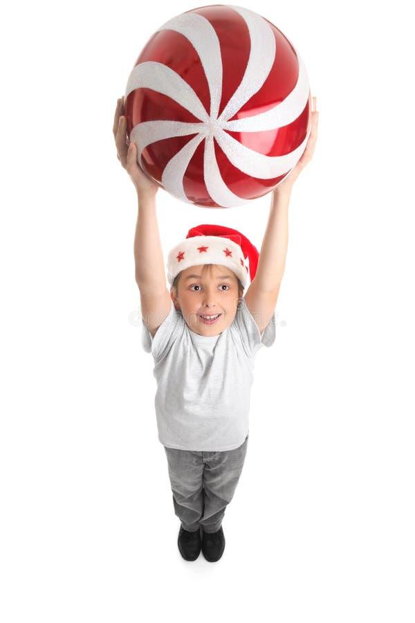 Célébrez la grande voie de Noël photos libres de droits