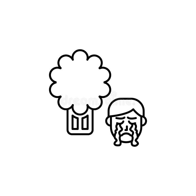 Céleri, icône allergique Élément des problèmes avec l'icône d'allergies Ligne mince icône pour la conception de site Web et le dé illustration libre de droits