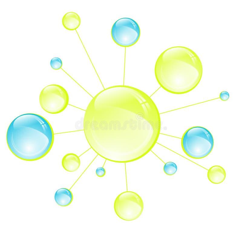 Célula abstracta de la microbiología ilustración del vector