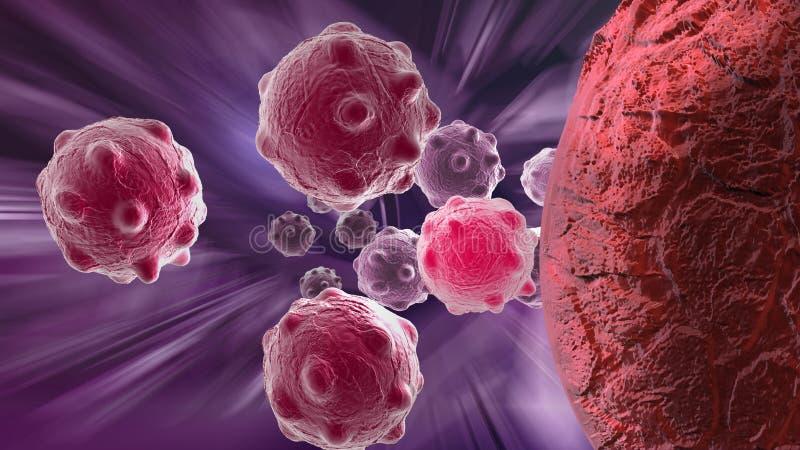 Célula cancerosa stock de ilustración