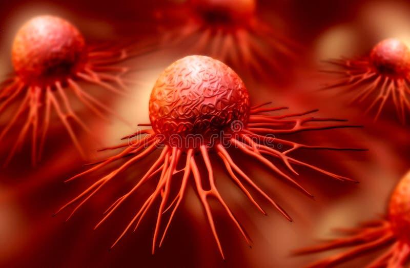 Célula cancerosa fotografía de archivo