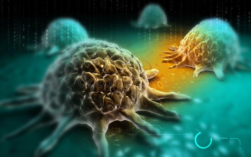Célula cancerosa ilustração stock