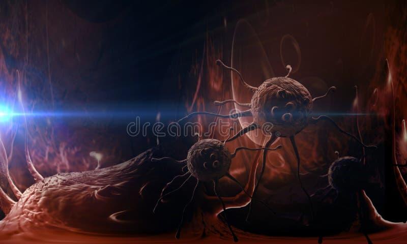 Célula cancerosa ilustração royalty free