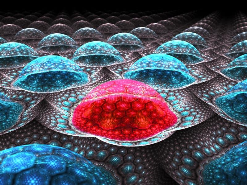 Célula cancerosa roja ilustración del vector